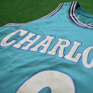 Vintage Larry Johnson Charlotte Hornets Jersey